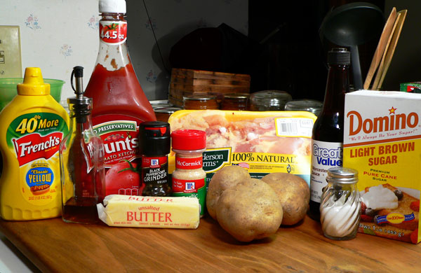 Skillet BBQ Chicken, ingredients.