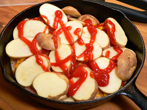 Skillet BBQ Chicken, add more ketchup.
