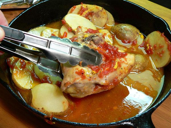 Skillet-BBQ-Chicken_20_remove-thighs