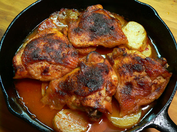 Skillet BBQ Chicken, let it rest.
