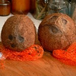 coconut, remove the netting.