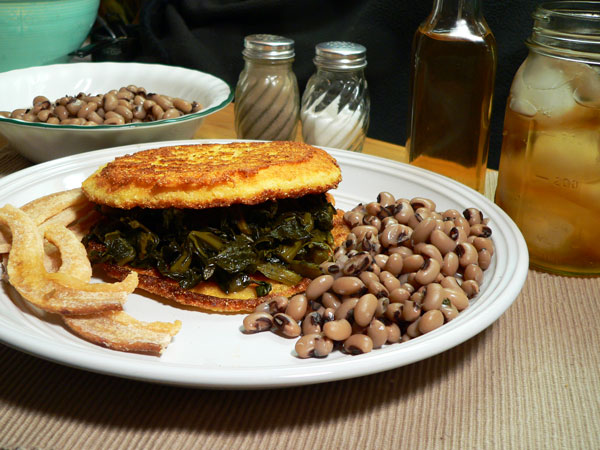 Collard Sandwich, serve and enjoy.