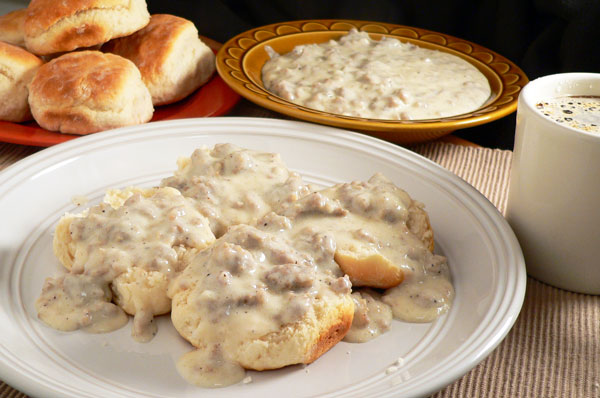 Sausage Gravy, serve warm and enjoy.