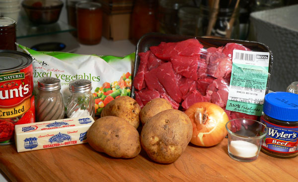 Vegetable Beef Soup, ingredients.