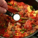 Vegetable Beef Soup, add the salt.