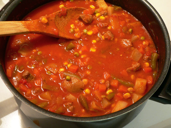 Vegetable Beef Soup, cook until done.
