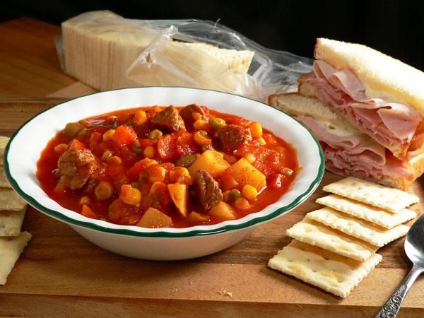Vegetable Beef Soup, serve
