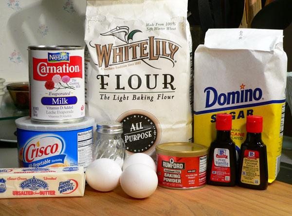 Basic Cake Layers, ingredients.