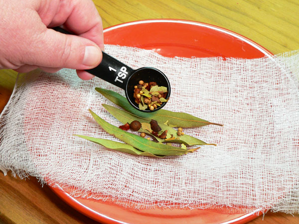 Beaufort Stew Seasoning, add pickling spice.