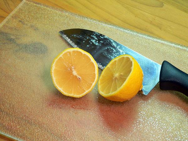 Beaufort Stew, slice the lemon.