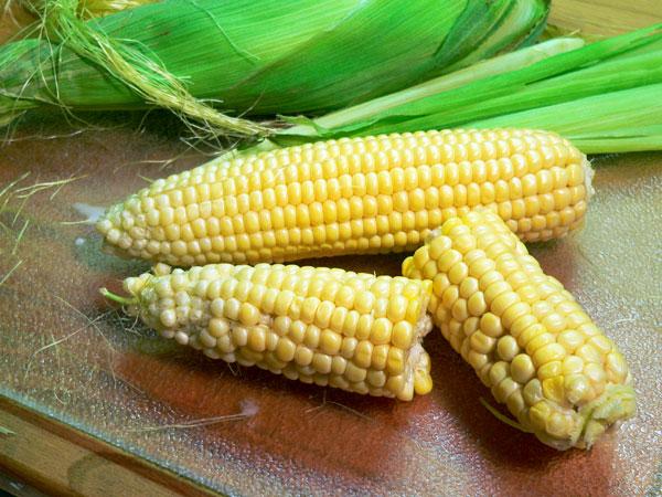 Beaufort Stew, prepare the corn.