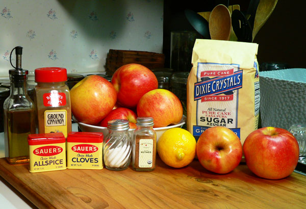Apple Butter, ingredients.
