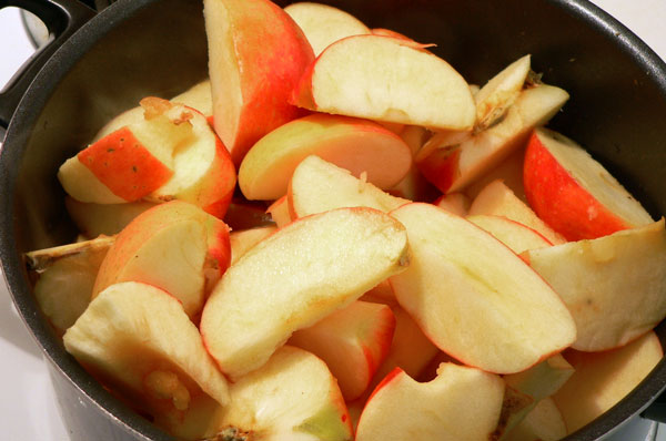 Apple Butter, add the apples.