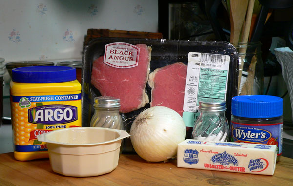 Beef Tips, ingredients.