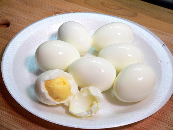 Deviled Eggs, all peeled.