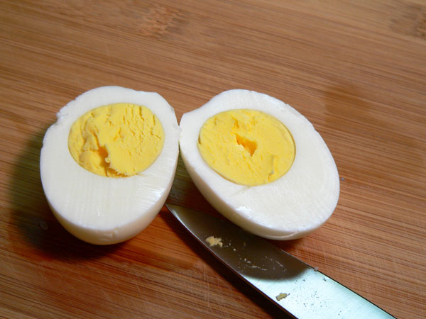 Deviled Eggs, slice in half.