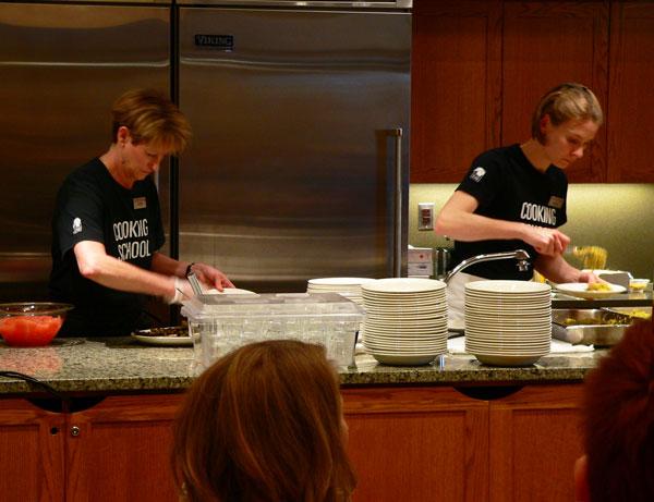 Lee Bros at Southern Season, staff preparing food.