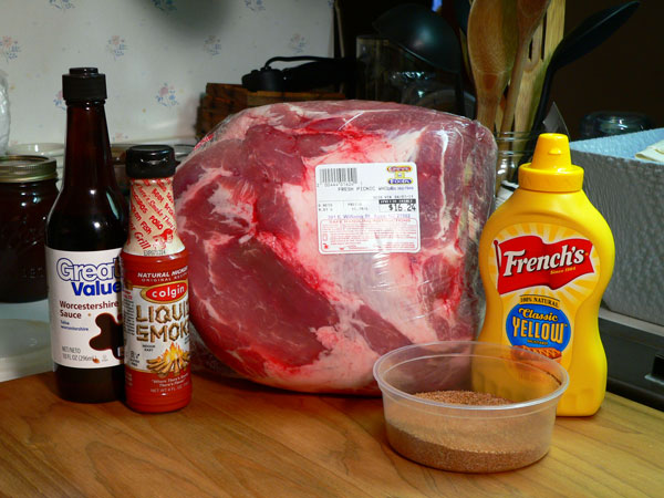 Pulled Pork, ingredients.