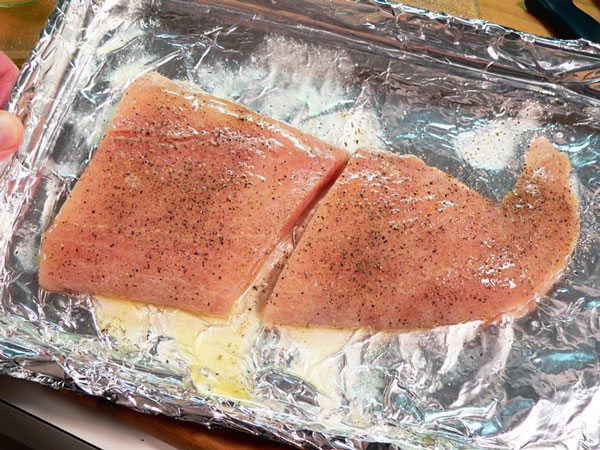Mahi-Mahi, fillets are ready to broil.