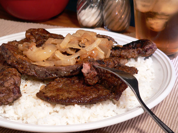 Liver and Onions, serve warm and enjoy.