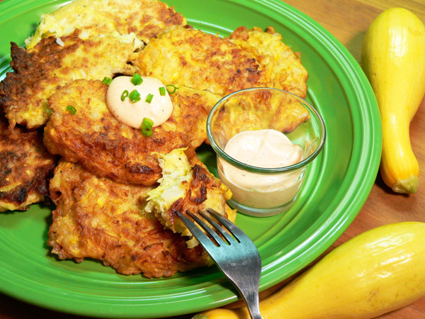 Squash Fritters, serve while warm and enjoy.