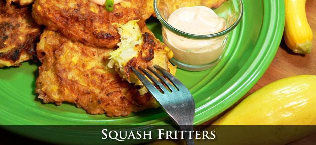 Squash Fritters Recipe, slider.