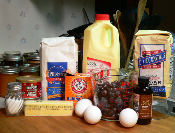 Blueberry Bread, ingredients you'll need.
