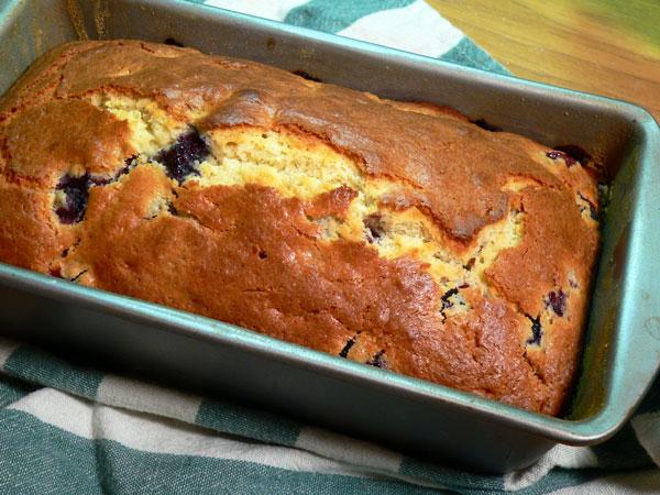 Blueberry Bread, baked bread.