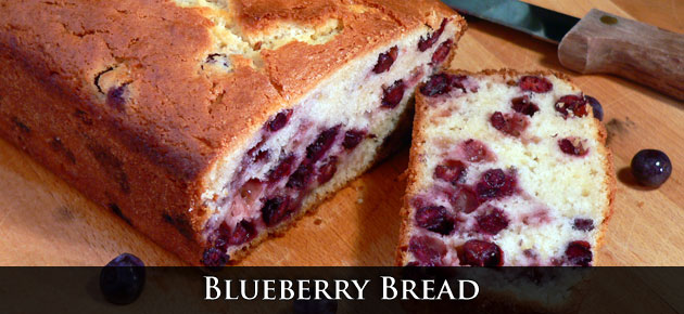 Blueberry Bread from Taste of Southern