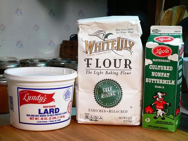 Buttermilk Biscuits, ingredients.