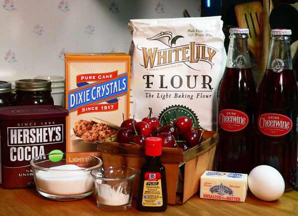Cheerwine Cobbler, ingredients you'll need.