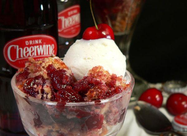 Cheerwine Cobbler, serve warm and enjoy.