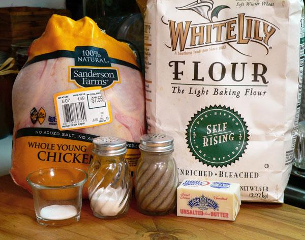 Chicken Pastry, ingredients.