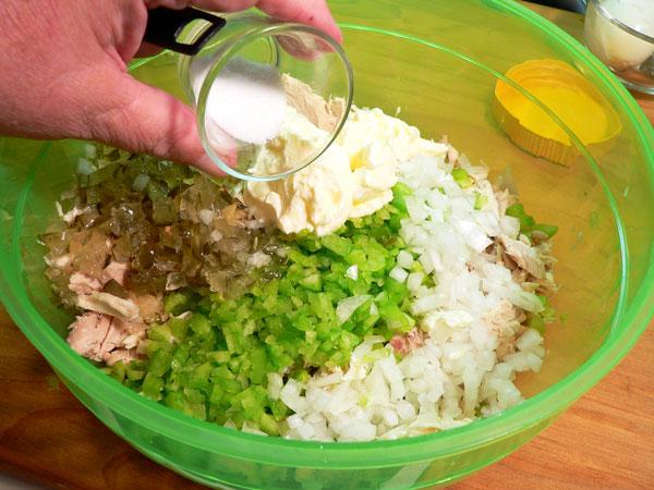 Southern Chicken Salad, add sugar if desired.