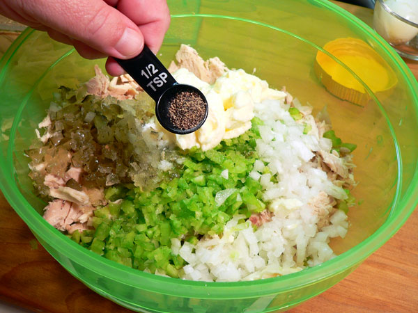Southern Chicken Salad, add the black pepper.