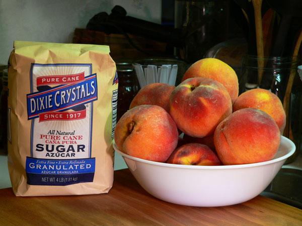 Peach Butter, ingredients.