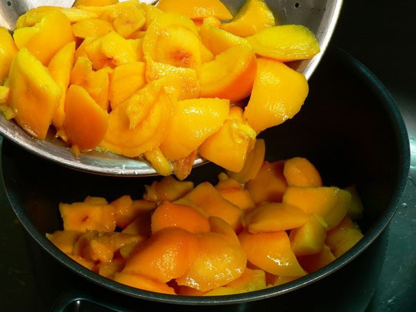 Peach Butter, add to sauce pot.