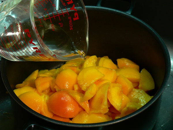 Peach Butter, add water.