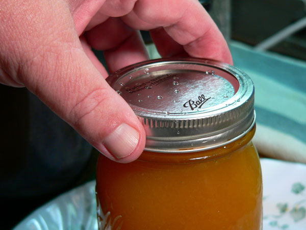 Peach Butter, apply the band.