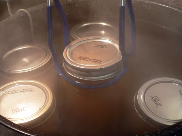 Peach Butter, place in canner.