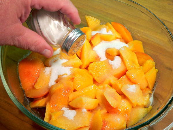 Peach Delight Cobbler, add salt.