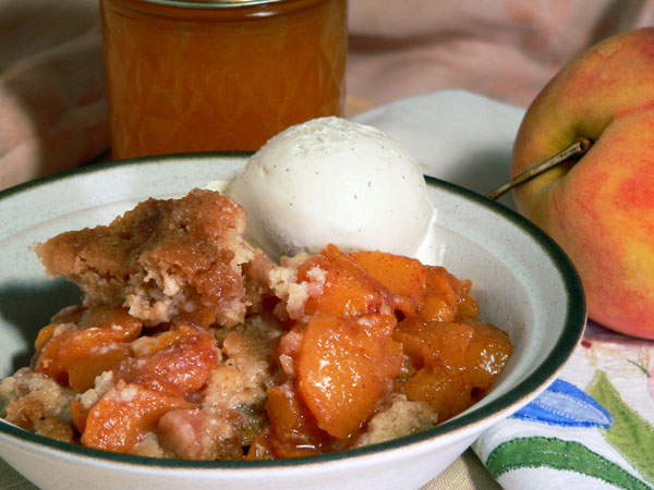 Peach Delight Cobbler