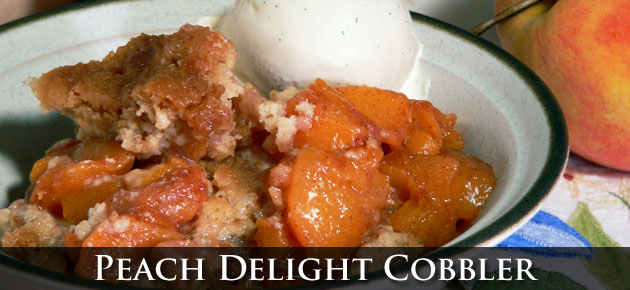 Peach Delight Cobbler, slider.