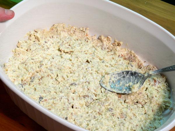 Squash Casserole, add layer of stuffing mix.