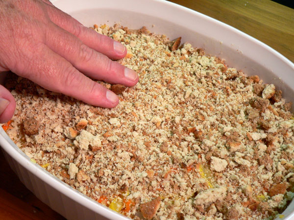 Squash Casserole, add the remaining dry stuffing.