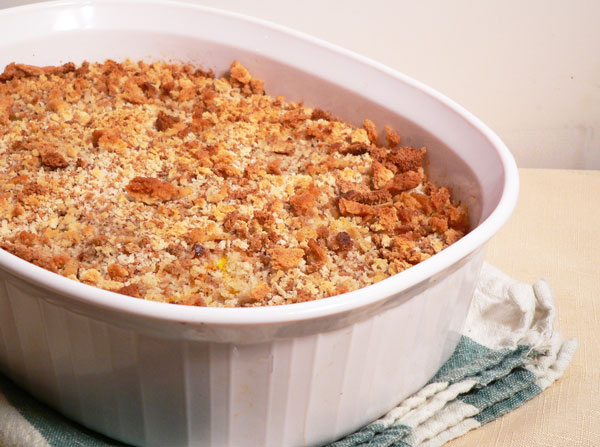 Squash Casserole, remove from oven and let cool a bit.