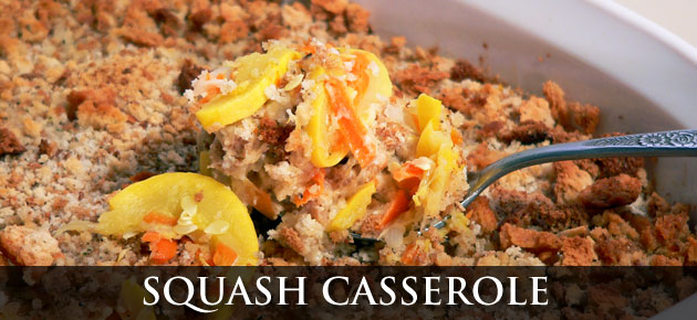 Squash Casserole, slider.
