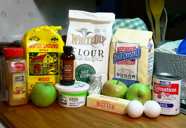 Apple Skillet Cake, ingredients you'll need.
