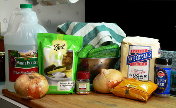 Bread-and-Butter-Pickles, ingredients.