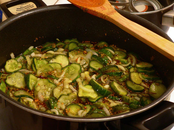 Bread-and-Butter-Pickles, boil one minute.